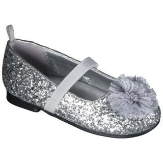 Toddler Girls Genuine Kids from OshKosh Glitter Ballet Flats   Silver 6