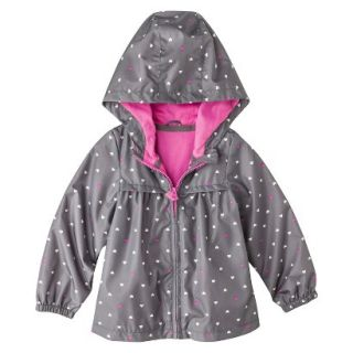 Just One You by Carters Infant Toddler Girls Heart Windbreaker Jacket   Gray