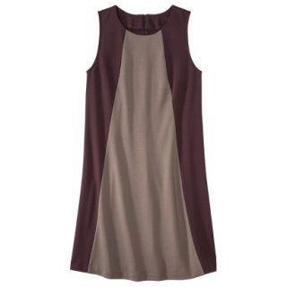 Mossimo Womens Colorblock Shift Dress   Berry/Timber S