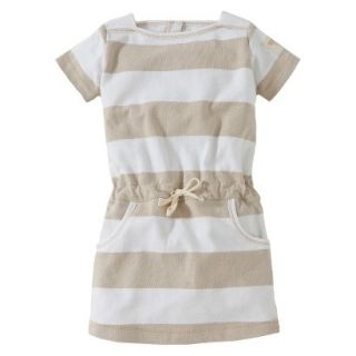 Burts Bees Baby Toddler Girls Boatneck Dress   Oyster Grey 4T