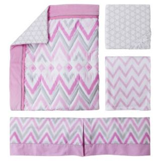 Pink Chevy 4 Piece Baby Girl Crib Bedding Set by Circo