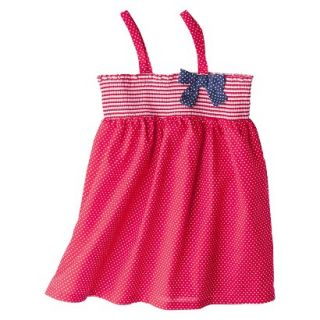 Circo Infant Toddler Girls Polka Dot Swim Cover Up Dress   Red 9 M