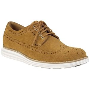 Cole Haan Mens Lunargrand Long Wingtip Oxford Camello Suede Camo Shoes, Size 10.5 M   C12526