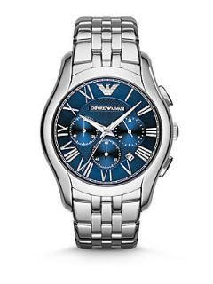 Emporio Armani Round Stainless Steel Chronograph Watch   Stainless Steel