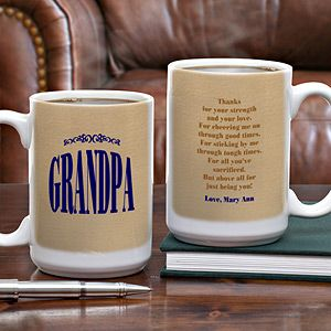 Large Ceramic Personalized Coffee Mug   Thanks For Being You