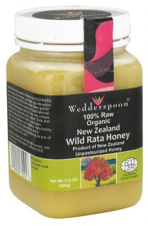 Wedderspoon Organic   100% Raw Organic New Zealand Wild Rata Honey   17.6 oz.