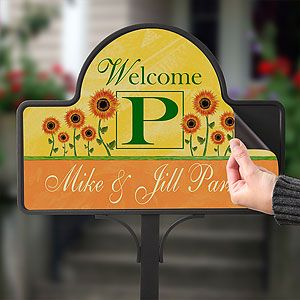 Summer Sunflowers Personalized Yard Stake Magnet