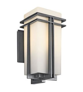 Tremillo 1 Light Outdoor Wall Lights in Black (Painted) 49202BK