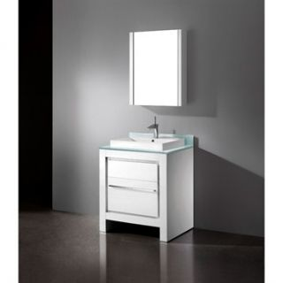 Madeli Vicenza 30 Bathroom Vanity   Glossy White