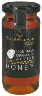 Wedderspoon Organic   100% Raw Organic Active Beechwood Honey   11.46 oz.