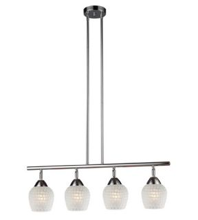 Celina 4 Light Island Lights in Polished Chrome 10153/4PC WHT