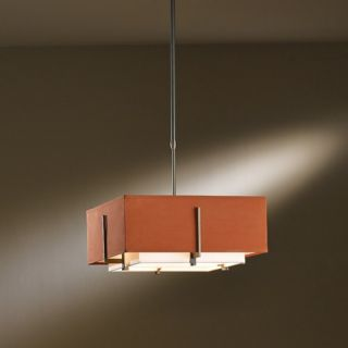 Exos Square Small Double Shade Pendant Light