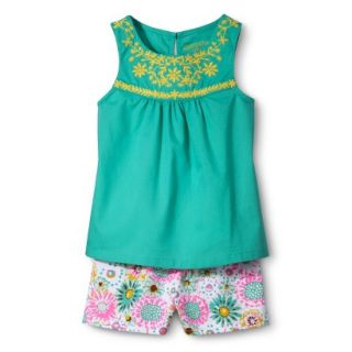Genuine Kids from OshKosh Infant Toddler Girls Embroidered Tank & Floral Short