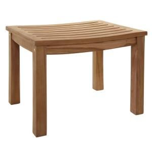 23 in. Teak Curved Slatted Shower Seat ISS141