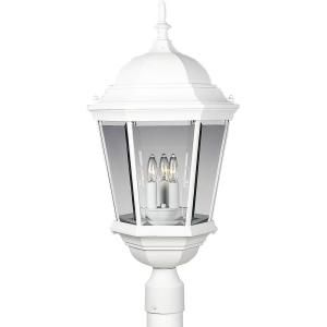 Progress Lighting Welbourne Collection Textured White 3 light Post Lantern P5483 30