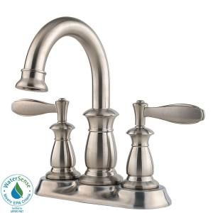 Pfister Langston 4 in. 2 Handle High Arc Bathroom Faucet in Brushed Nickel F 043 LNKK