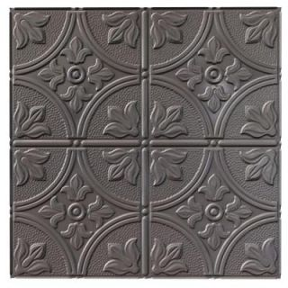 Fasade 4 ft. x 8 ft. Traditional 2 Brushed Nickel Wall Panel S51 29