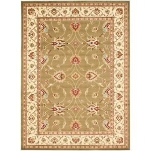 Safavieh Lyndhurst Green/Ivory 8 ft. 9 in. x 12 ft. Area Rug LNH553 5212 9
