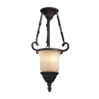 TRUMP HOME Ardsley Collection 2 Light 14 in. Hanging Antique Bronze Mini Pendant DISCONTINUED 964703602