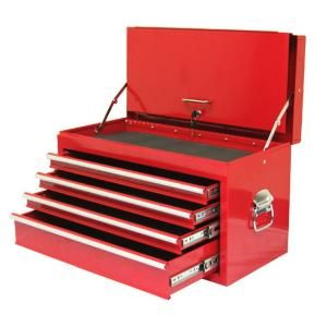 Excel 26 in. 4 Drawer Steel Top Chest in Red TB2060BBS A Red