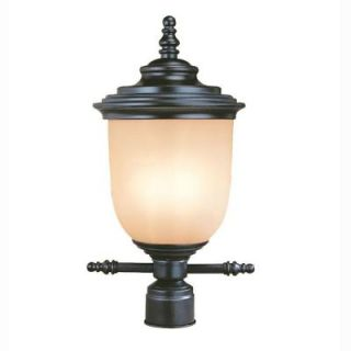 Hampton Bay Chelsea Collection 3 Light Outdoor Mediterranean Bronze Post Lantern CBW1803L 3/BRZ