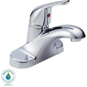 Delta Foundations 4 in. Centerset Single Handle Lavatory Faucet with Less Pop Up in Chrome B501LF