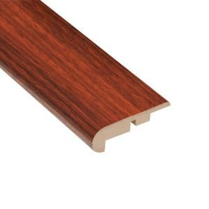 Home Legend High Gloss Brazilian Cherry 11.13 mm Thick x 2 1/4 in. Wide x 94 in. Length Laminate Stair Nose Molding HL1013SN