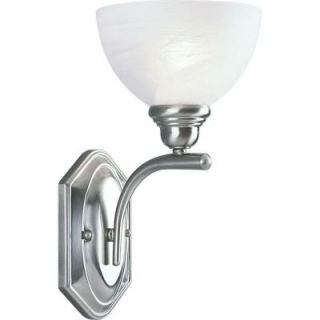 Progress Lighting Glendale Collection Brushed Nickel 1 light Wall Sconce DISCONTINUED P2982 09