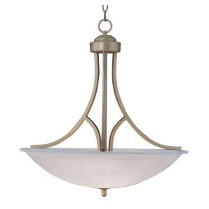 Filament Design Cabernet Collection 2 Light 15.75 in. Brushed Nickel Pendant with White Marbleized Shade CLI WUP142236