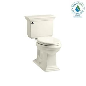 KOHLER Memoirs Stately Comfort Height 2 piece 1.28 GPF Elongated Toilet with AquaPiston Flush Technology in Biscuit K 3817 96