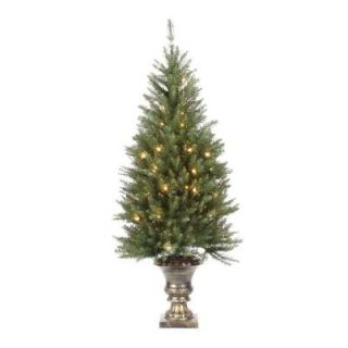 4.5 ft. Pre Lit Dunhill Fir Potted Artificial Christmas Tree with Clear Lights DUH 320 45