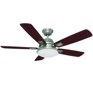 Hampton Bay 52 in. Latham Brushed Nickel Ceiling Fan 51315