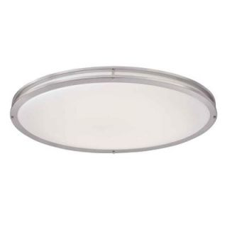 Hampton Bay 32 in. Brushed Nickel LED Oval Flush Mount DC032LED