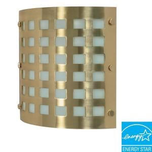 Glomar Green Matters 2 Light Brushed Brass Wall Sconce HD 941