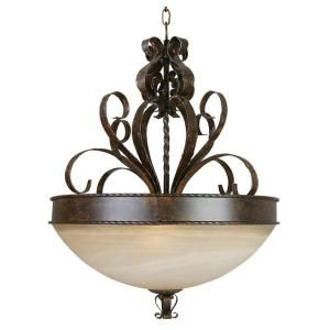 Yosemite Home Decor Mckensi Collection 3 Light Hanging Pendant 93953 3FGS