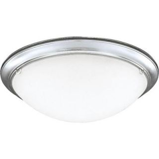 Progress Lighting Eclipse Collection 4 Light Brushed Steel Flush Mount P7326 13EBWB