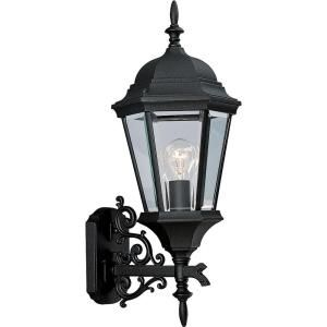 Progress Lighting Welbourne Collection 1 Light Textured Black Wall Lantern P5684 31