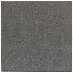 Envirotile 18 in. x 18 in. Gray/Black Rubber Flat Profile Paver MT5000698