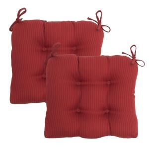 Hampton Bay Chili Solid Tufted Outdoor Seat Pad (2 Pack) 7200 02002600