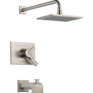 Delta Vero Single Handle 1 Spray Tub and Shower Faucet Trim in Stainless (Valve not included) T17453 SS