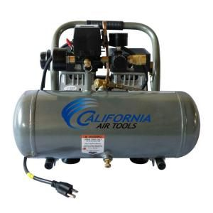 California Air Tools 1.6 Gal. 3/4 HP Ultra Quiet and Oil Free Aluminum Tank Air Compressor 1675A
