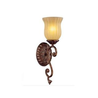 Hampton Bay Freemont 1 Light Antique Bronze Wall Sconce 13383 015