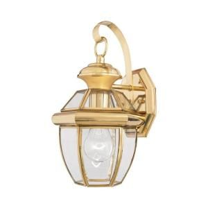 Filament Design 1 Light Outdoor Polished Brass Clear Glass Wall Mount Light CLI GH8009024