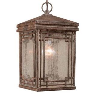 Hampton Bay Larkin Street Hanging 1 Light Outdoor Vintage Rust Lantern DISCONTINUED HD324103
