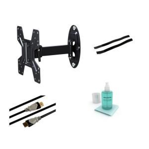 Atlantic Full Motion Articulating Steel Wall Mount Kit for 10 in. to 37 in. Flat Panel TVs   Black 63635939