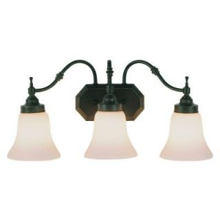 Filament Design Cabernet Collection 3 Light Oiled Bronze Bath Bar with White Opal Shade CLI WUP202596