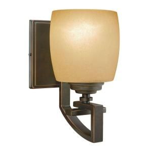Hampton Bay 1 Light Bronze Wall Sconce 25105