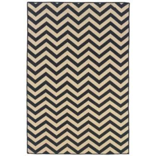 Linon Home Decor Saloniki Chevron Grey 5 ft. x 8 ft. Area Rug RUG SA0258