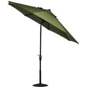 Home Decorators Collection 6 ft. Auto Tilt Patio Umbrella in Cilantro Sunbrella with Black Frame 1548730600