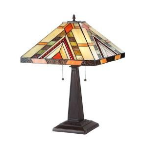 Chloe Lighting Braxton 23 in. Tiffany Style Mission Bronze Table Lamp CH33264MS16 TL2